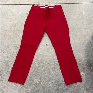 Essential slim trouser pant in true red